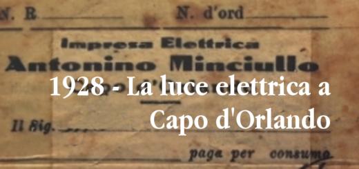1928 - la luce elettrica a Capo d'Orlando