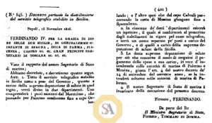 decreto reale n.545 del 15 novembre 1816,